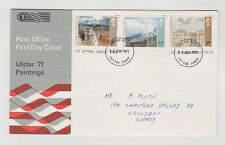 UNITED KINGDOM FIRST DAY COVER ULSTER '71 PAINTINGS  16/06/1971 MINT ADDRESSED