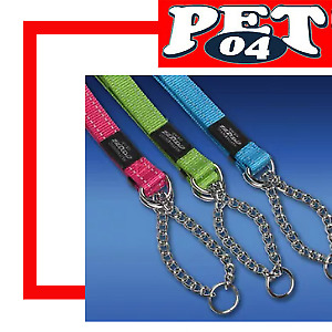 Rogz Utility Half Check Dog Obedience Collar 10 Colours and 3 Sizes