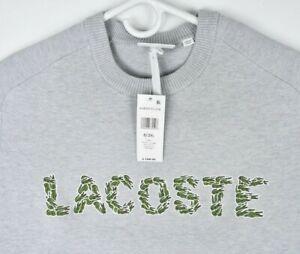 NEW Lacoste Men's Crew Neck Fleece Sweatshirt Aligator Logo Sz 3XL $198
