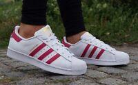 Neu Schuhe ADIDAS SUPERSTAR Foundation Weiss Damen Turnschuhe Sneaker B23644