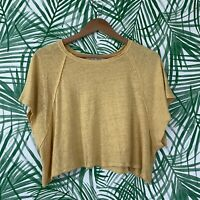Free People We The Free Weekend Linen Blend Tee Women's Size XS