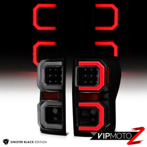 For 07-13 Toyota Tundra {Black Smoke} Dual LED Neon Tube Brake Light Tail Lamp