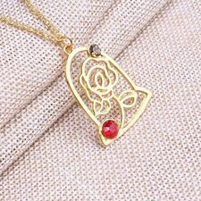Beauty and the Beast Enchanted Rose Petal Necklace Chain Pendant Woman