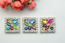 5 Costume Dress Square Colorful Crystal Rhinestone Applique Sewing On A624