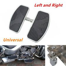 Pair of Motorcycle Left+Right Floorboards Foot Boards Pedal Metal Steel&Rubber