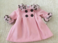 New Baby Girl 3M Winter Coat Jacket Pink Faux Fur Shower Gift Layette $19.99 NWT