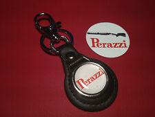 PERAZZI SPORTING GUNS:  LEATHER KEY RING &  FREE PERAZZI GUNS   STICKER