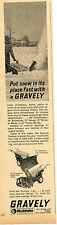 1965 Print Ad of Studebaker Gravely Tractor Snowplow & Snowblower