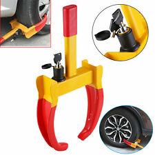 Universal Heavy Duty 3 Key Lock Caravan Car Trailer Security Wheel Clamp Steel