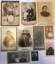 Lovely Collection 10 x Vintage Antique Victorian CDV Photographs Photo Portraits