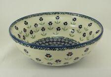 Bunzlauer Keramik Schale MISKA, Schüssel, Salat, ø24cm, (M092-ASS), Blumen