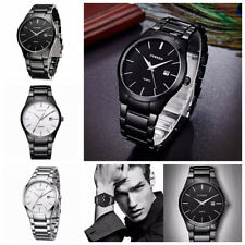 Men's CURREN Fashion Stainless Steel Date Waterproof Sport Wrist Quartz Watch AU
