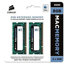 Corsair Apple Certified 8GB (2x4GB) DDR3 1333 MHz (PC3 10666) Laptop Memory 1.5V