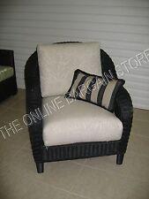 Frontgate Sofa Chair Deluxe Sunbrella  Outdoor Cushion Seagrove Graystone 25x26