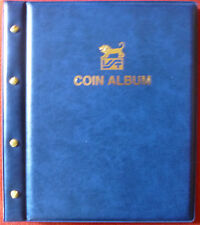 VST COIN ALBUM BLUE COLOUR with 12 Various Size PAGES. Holds 568 Coins