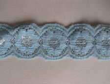 2039) Metri 1 di Passamaneria in pizzo azzurro alta cm 2,5