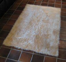 LIGHT BEIGE large sqaure Faux fur Rug Soft 2' x 4'