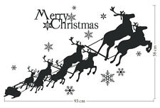 Christmas Decorations removable wall stickers Reindeers Black Merry Christmas
