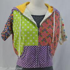 LUCKY BRAND patchwork Hoodie Zip up Sweatshirt JR Size M Sweater Hooded S/S top