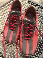Born Suede Tennis Athletic Shoes Lace Up Red Black Gray Size US 9 EU 40.5 W0943
