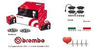 Dischi + Pastiglie Freno Anteriori Brembo Fiat Panda 169 1.3 Multijet 4x4