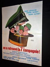 ON A RETROUVE LA 7ème COMPAGNIE ! affiche cinema bidasse  herve morvan 1975