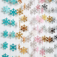4M Snowflake String Hanging Ornaments Xmas Tree Holiday Party Home Decor