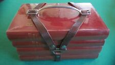 Antique Book Carrier - French - Leather/Steel - Very Rare and Unique