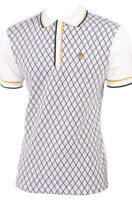 MENS WIGAN CASINO DIAMOND POLO SHIRT WC 2119 - ECRU