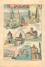 Cathédrale Notre-Dame et Saint-Privat de Mende Notre-Dame de Quezac  WWII 1939