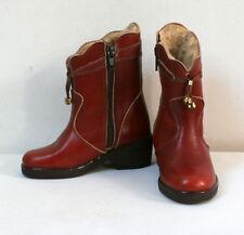 Bottines vintage cuir fourrées t. 28 état neuf