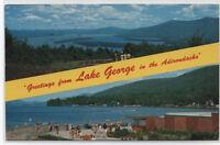 VIEW OF LAKE GEORGE~ADIRONDACKS~NEW YORK POSTCARD