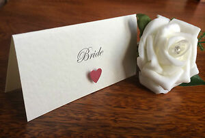 5 x Personalised Wedding Place Cards