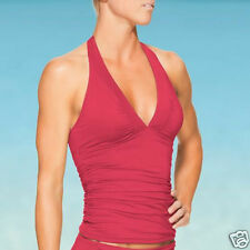ATHLETA Shirrendipity Halter Tankini, NWT, Size XS, Grenadine Red, Sold Out!