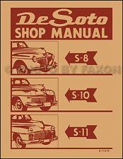 DeSoto Factory Repair Shop Manual 1941 1942 1946 1947 1948 De Soto S8 S10 S11