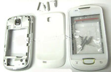 For Samsung S5570 Galaxy Mini Fascia Housing  Battery Cover Case Keypad White UK