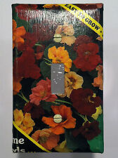 Nasturtium Seed Packet - Light Switch Cover - Single Switchplate - FREE Shipping