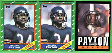 WALTER PAYTON 1985 & 1986 TOPPS 3-CARD LOT CHICAGO BEARS