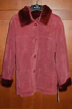 DENNIS BASSO Burgundy LEATHER Jacket Size L Women SUPER SOFT HIGH QUALITY NWT