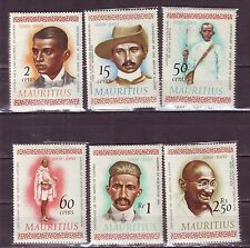 Mauritius(Africa)-Gandhi 2 Cent to 2.50 Rs. Comp. Set of 6 Diff. MNH Stamps #G16