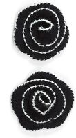 CROCHET FLOWERS in BLACK - Jolee's Boutique FABRIC Scrapbook Craft Sticker