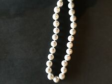 KENNETH JAY LANE FAUX WHITE CHUCKY PEARL HAND KNOTTED NECKLACE 35""