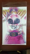 MMPR Mighty Morphin Power Rangers SHATTERED GRID #1 NYCC Pink Variant '18 SIGNED
