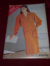 BUTTERICK #5508 - LADIES DROPPED WAIST DRESS w/ATTACHED SASH PATTERN  14-18  FF