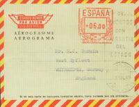 Spanien Gestempelt Von Roller / Porto Mecánico. Umschlag AE101. 1969. 6 Pts