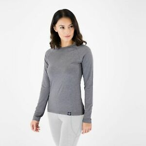 Knox Mia Long Sleeve Dual Active BaseLayer Top for Women - Grey