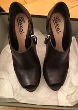 Gucci Peeptoe Ankleboots High heels Plateau Gr.38,5