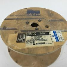 Alpha 1219/12C 12/C 24AWG Foil Shielded PVC Jacket 100' Slate