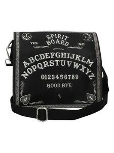 Nemesis Shoulder Bag Spirit Board Embossed Black 27x27cm