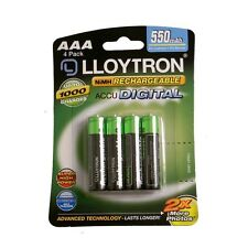 AAA Rechargeable Batteries 4 Pack Lloytron Heavy Duty For Toy Camera 550 MAH New